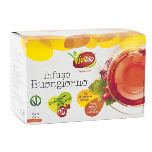 Ceai bio Buna Ziua, vegan, 20 plicuri, Vivibio, 30g