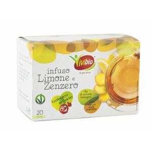 Ceai Bio de lamaie si ghimbir, vegan, 20 plicuri, Vivibio, 30g