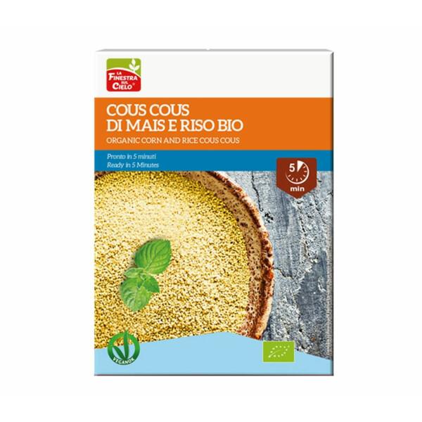 Cous cous bio din porumb si orez (produs vegan) 500g