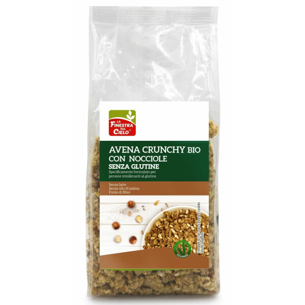 Musli crocant bio cu fulgi de ovaz si alune fara gluten (vegan) 250g