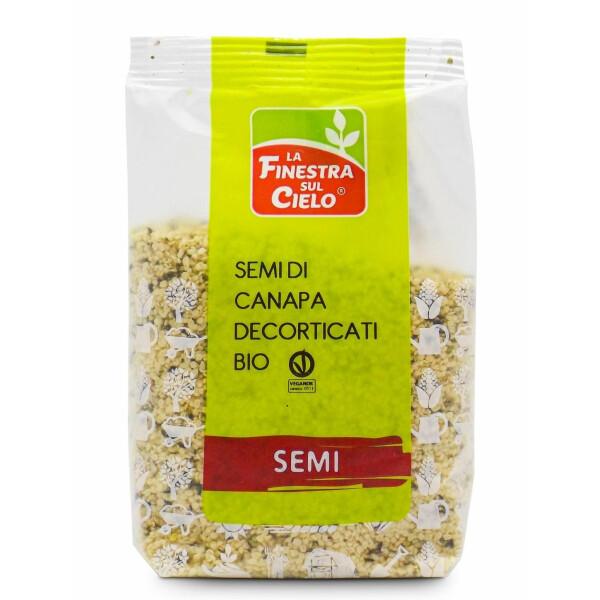 Seminte bio de canepa decorticate, vegan, La Finestra Sul Cielo, 250g