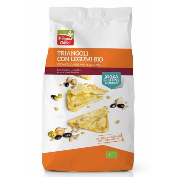 Snack bio triunghiular cu legume 100g (fara gluten, fara drojdie, neprajit, vegan)
