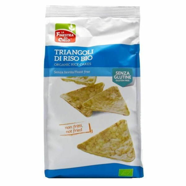 Snack triunghiular bio din orez 100g (fara gluten, fara drojdie)