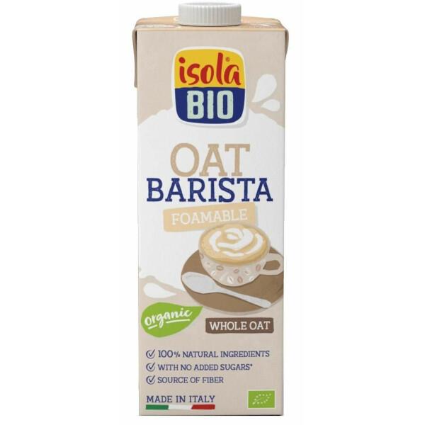 Bautura bio din ovaz integral Barista Isola Bio 1L (fara zahar, fara lactoza)