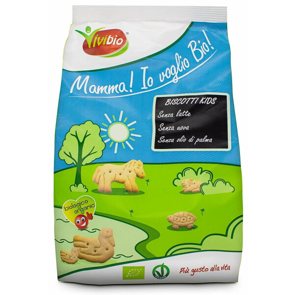 Biscuiti Bio Kids Cookies din grau, fara lapte, fara oua, vegan, Vivibio, 350g