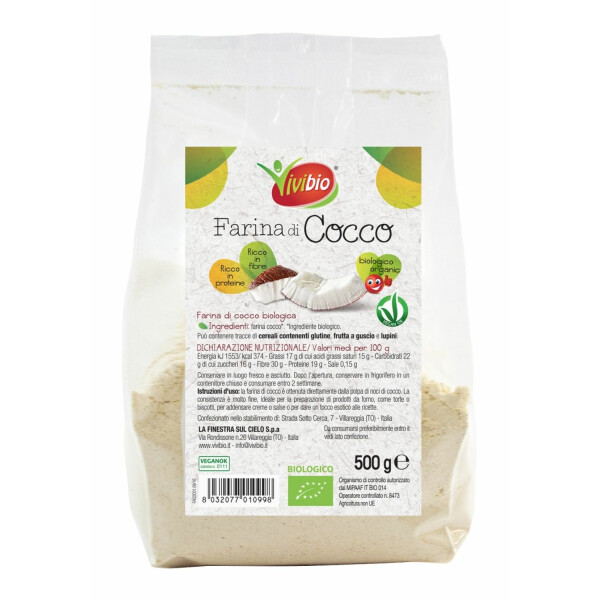 Faina bio de cocos Vivibio 500g