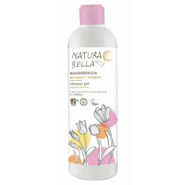 Gel de dus buchet floral, cu extracte bio de violete ECO BIO Natura Bella 400ml