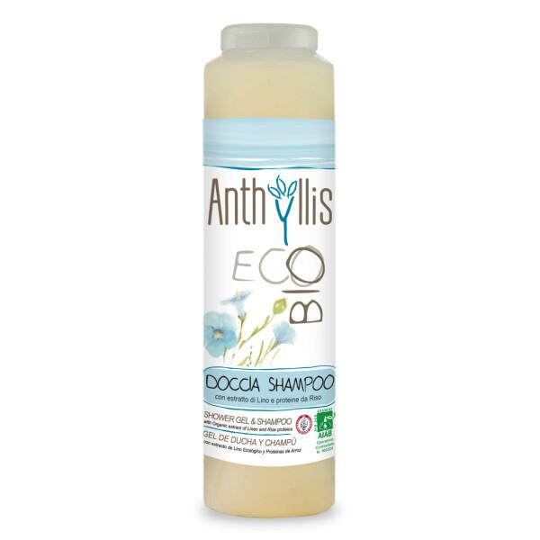 Sampon si gel de dus cu extract de in ECO BIO Anthyllis 250 ml