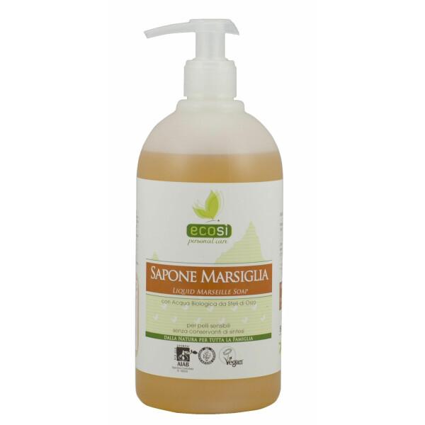Sapun Bio de Marsilia, lichid, pentru piele sensibila, fara conservanti, vegan, ECOSI, 500 ml