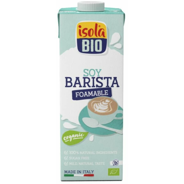 Bautura bio din soia Barista Isola Bio 1L (fara gluten, fara lactoza)