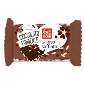 Ciocolata bio amaruie cu orez expandat, Baule Volante 25g
