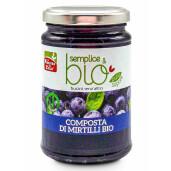 Gem bio de afine (indulcit cu pulpa de mere) 320g (produs vegan)