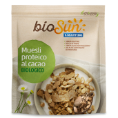 Musli bio proteic cu cacao fără gluten, fără zahăr 200g bioSUN