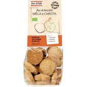 Biscuiti Bio Fior di biscotti, cu morcov si mere, fără lactoza, fără drojdie, fara ulei de palmier, vegan, Fior di Lotto 250g