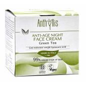 Crema de fata anti-age pentru noapte, cu ceai verde, vegan, Anthyllis 50ml