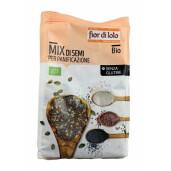 Mix de seminte bio pentru panificatie, fara gluten, Fior di Loto 250g