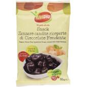 Snack ghimbir bio tras in ciocolata amaruie, fara gluten, Vivibio, 45g