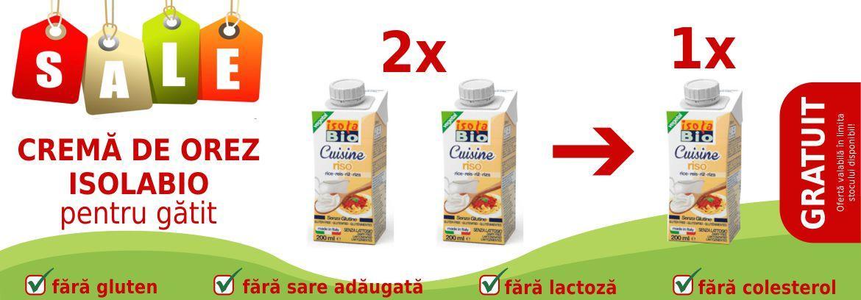 2+1 Crema bio de orez Isola Bio